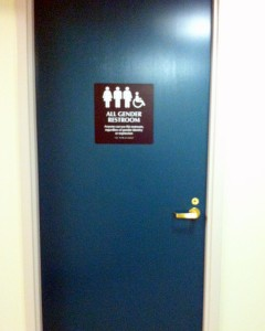 All-gender bathroom in Olin